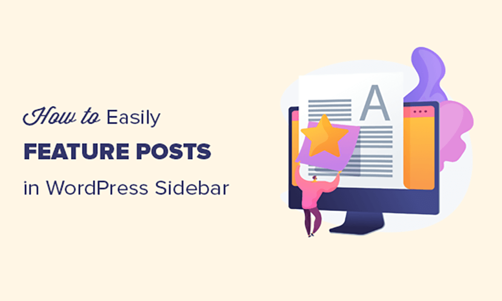 How to add featured posts in word press sidebar